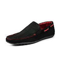 Мокасины мужские GSL GSL2052 черно-красные