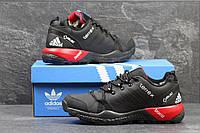 Зимние кроссовки Adidas Terrex, чёрные с красным