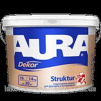 Структурная фасадная краска для фасадов и интерьеровStrukturDekorAuraEskaro (10л)