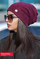 Женская вязанная шапка чулок