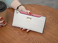 Женский кошелек на кнопке белый, фото 1