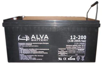 Аккумулятор AGM - 200 Ач 12В - ALVA AW12-200