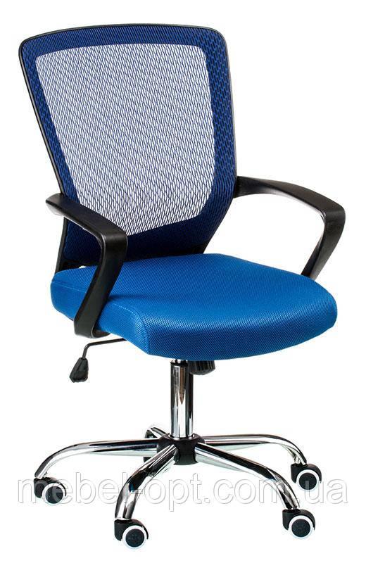 Кресло офисное Marin bluе, с механизмом Tilt, спинка - сетка, сидение PP - полипропилен Бесплатная доставка