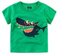 """Детская футболка с принтом """"Акула"""""""