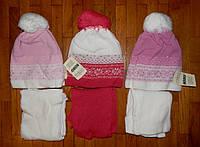 Теплые комплекты шапка+шарф для девочки Вираж 52/54 р
