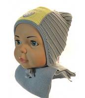 Теплые комплекты шапка+шарф для девочки Фея 42/44 р