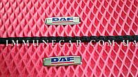 EVA ковры в кабину для DAF XF 105 красного цвета