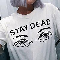 Футболка белая | Stay Dead logo