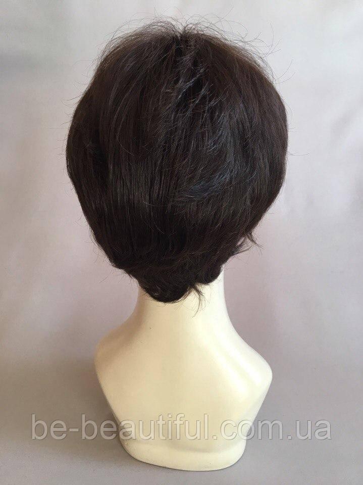 Полунатуральный парик №1 Цвет черный натуральный