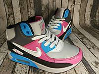 Зимние кожаные женские кроссовки Nike Найк