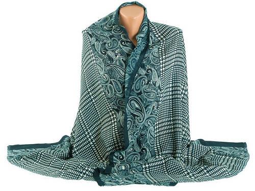 Красивая женская  шаль Traum2498-87, цвет зеленый.