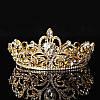 Диадема свадебная корона круглая ТЕОНА серебро Тиара Виктория для волос украшения диадемы свадебные, фото 6