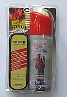 """Набор """"Универсальный водоотталкивающий спрей Silver Waterproof Protector  200 мл (все цвета)+ Губка  Silver"""