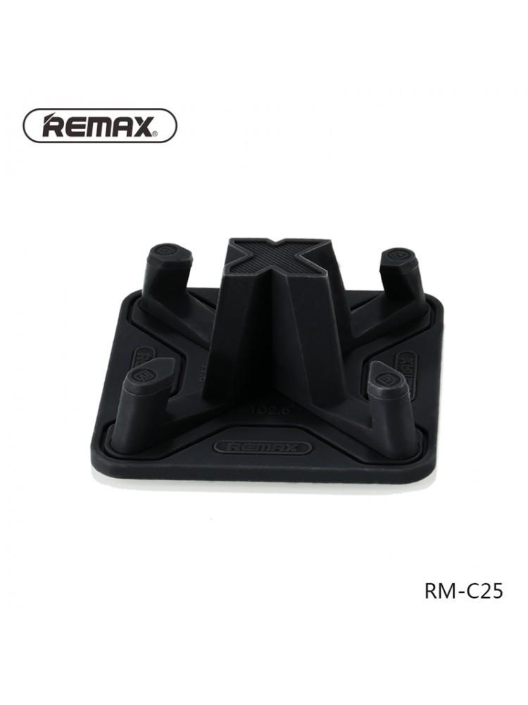 Держатель для телефона, планшета Remax Pyramid C25 Black, черный силиконовый, фото 1