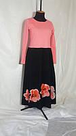 Платье женское в пол макси с росписью Сукня жіноча