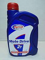 Масло 2Т Агринол Moto Drive TC+ полусинтетика 1л