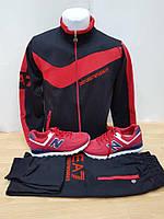 Мужской спортивный костюм Армани красный