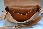 Кожаная сумка VS133  pale orange 26х22х4 см, фото 6