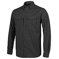 Рубашка тактическая Helikon-Tex® DEFENDER Mk2 Shirt long sleeve® - PolyCotton Ripstop - Черная