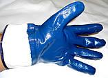 Рукавиця перчатки робоча нитрильная Нітрилова МБС КЩС  Gerva с широким манжетом, фото 2