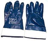 Рукавиця перчатки робоча нитрильная Нітрилова МБС КЩС  Gerva с широким манжетом, фото 4