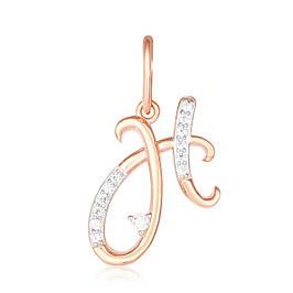 Серебряные буквы с позолотой