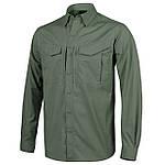 Рубашка тактическая Helikon-Tex® DEFENDER Mk2 Shirt long sleeve® - PolyCotton Ripstop - Олива
