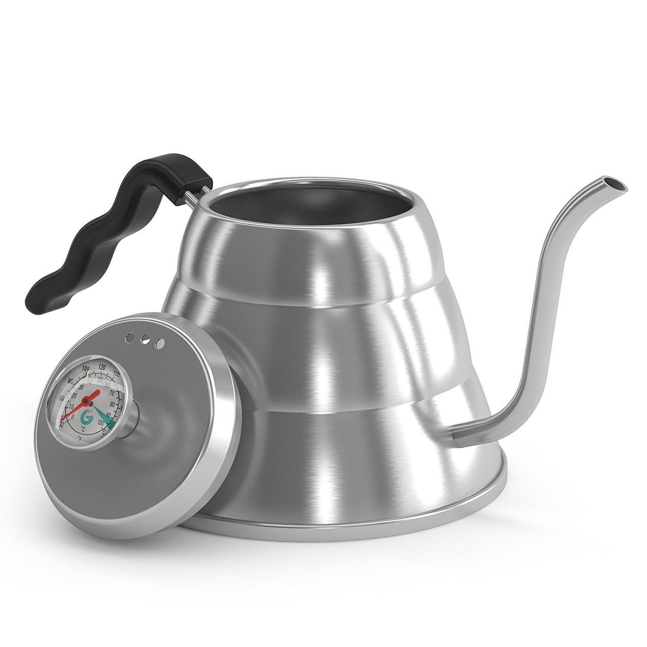 Чайник Coffee Gator с термометром для заваривания кофе (1 л)