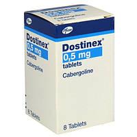 Достинекс (Dostinex) каберголин 0.5мг, №8