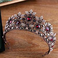 Высокая корона, диадема, тиара под бронзу ,  высота 7,5 см.