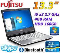 """Надежный недорогой Ноутбук Fujitsu LIFEBOOK S760 13.3"""" i5 2x2.6GHz 4GB RAM 160GB, фото 1"""