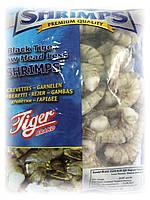 Креветка черная тигровая сырая без головы 16-20