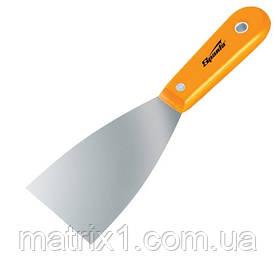 Шпательная лопатка стальная, 63 мм, полированная, пластмассовая ручка// SPARTA