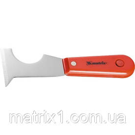 Шпатель-скребок стальной, пластмассовая ручка// MTX