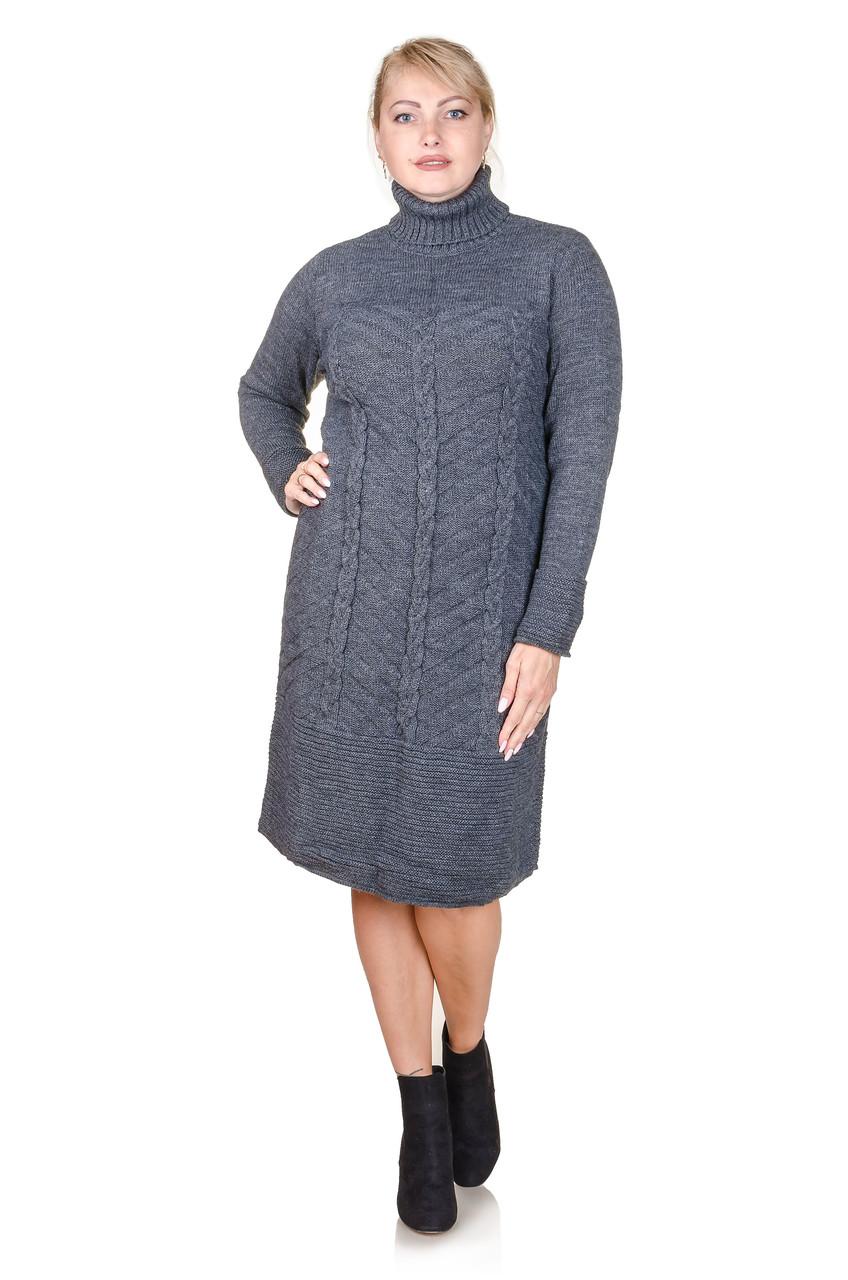Вязаное платье  Nimfa графит (48-50)