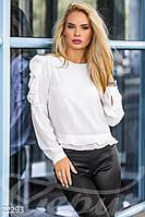 Тонкая офисная блуза - 22293[L]