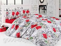Комплект постельного белья First choice VALENTİNE GRİ Полуторный