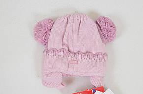 Детская теплая вязанная шапочка для крохи от BARBARAS Польша, фото 3