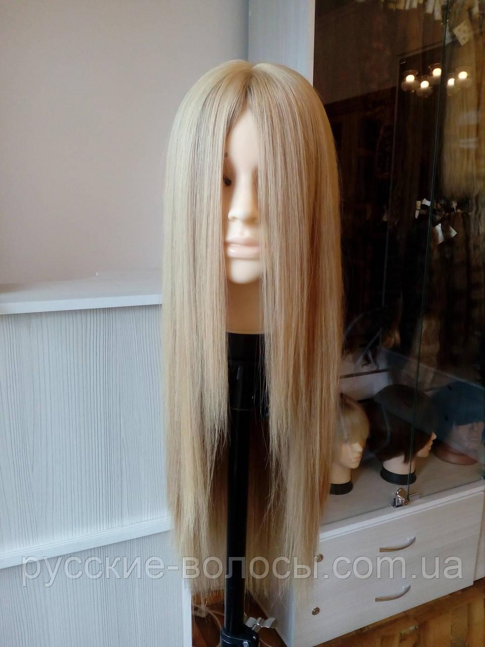 Довгий натуральний жіночий парик світлий