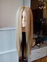 Довгий натуральний жіночий парик світлий, фото 1