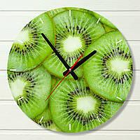 """Часы настенные на кухню - """"Киви"""" (на пластике)"""