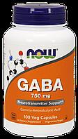 Now Gaba 750 mg 100 veg caps