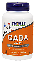 Now Gaba 750 mg 100 veg caps