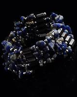 Украшение нашею-браслет из гематита с   лазуритом от Студии  www.LadyStyle.Biz