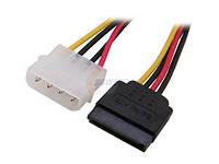 Переходник питания жесткого диска Serial ATA - Molex  4pin-15pin 15 см