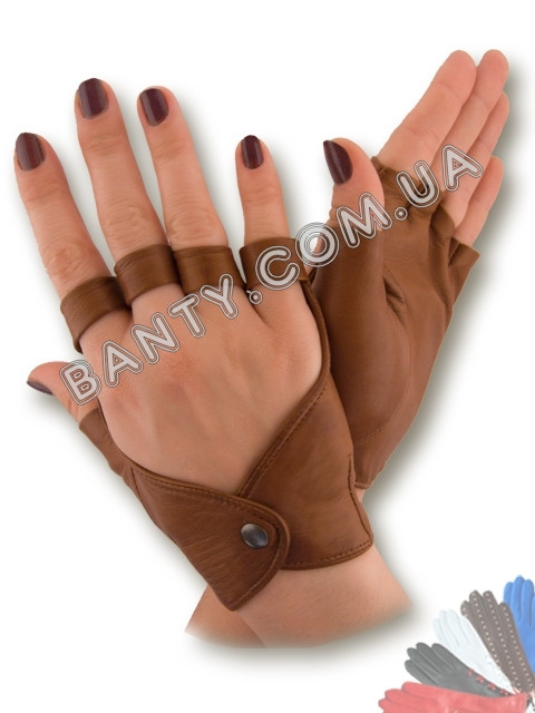 Женские перчатки без пальцев модель 243