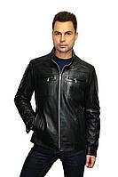 Куртка кожаная черная, большие размеры