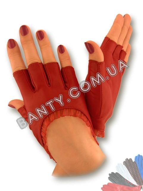 Женские кожаные перчатки без подкладки Модель 267