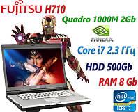 """Мощный ноутбук Fujitsu Celsius H710 15.6"""" i7-2820QM 8GB RAM 500GB, фото 1"""