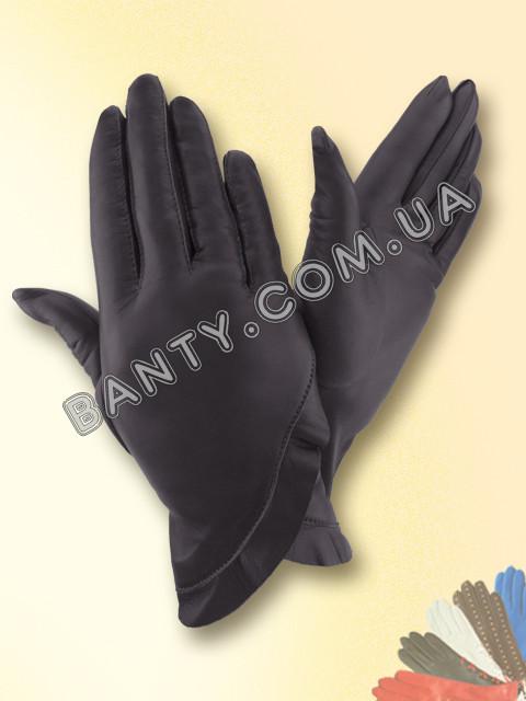 Женские кожаные перчатки без подкладки Модель 301